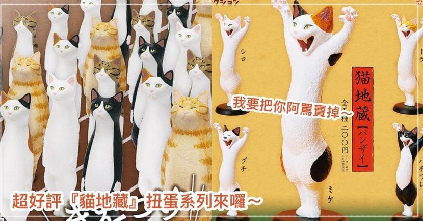 超熱賣『貓地藏』第七彈來了!一排排立正站好的超萌喵喵群,要來攻佔貓奴們的心囉~扭蛋控們準備手刀搶購吧!