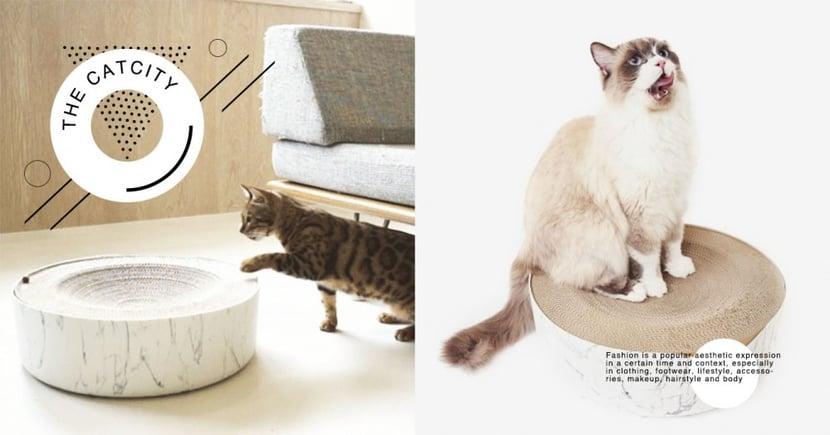 大理石紋美爆!台灣品牌「冥想貓床」奢華升級,可躺可抓超便利!讓貓咪一秒愛上~