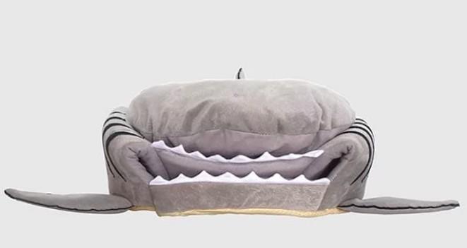 鯊魚造型,貓窩,鯊魚窩