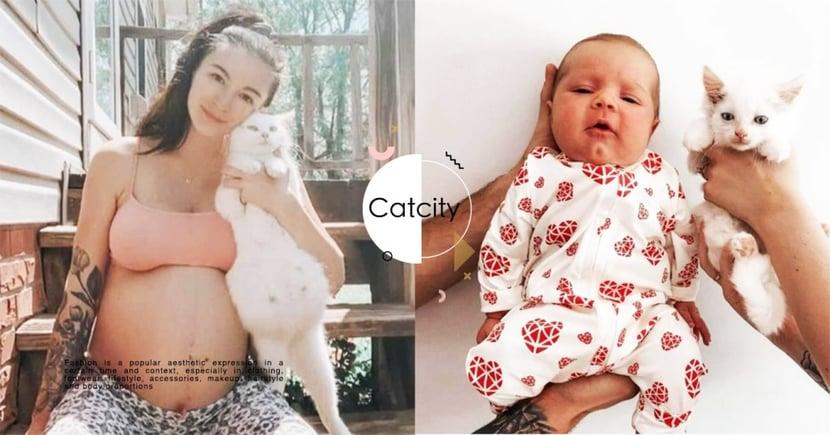 一起生產!國外愛媽路上「撿到孕貓」,寶寶竟「同時出生」 網感動:是緣分!