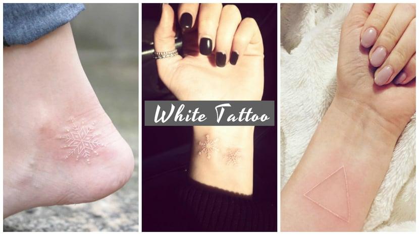 不經意散發個姓美!小清新白色刺青…低調浪漫女生的白色印記