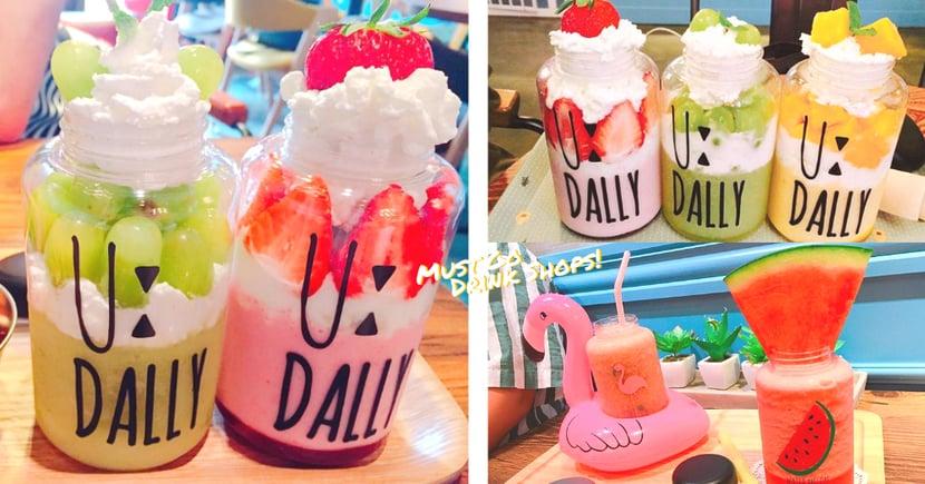 拜託來一杯「草莓T.O.P」!韓國鮮製果汁店,可愛瓶子還可帶回家喔〜
