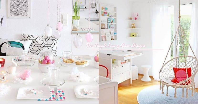 澄淨中的靈動!10款家居設計...點綴在純白中的色彩更添活力