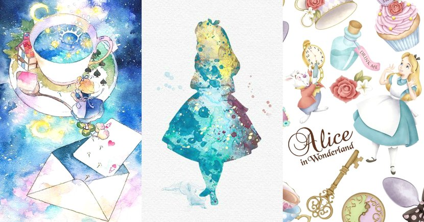 Alice迷必收!20款水彩風愛麗絲Wallpaper,一起躲進愛麗絲的夢遊仙境!