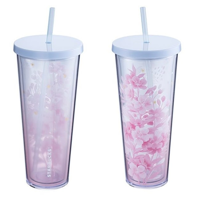 星巴克24OZ粉櫻花簇Togo冷水杯