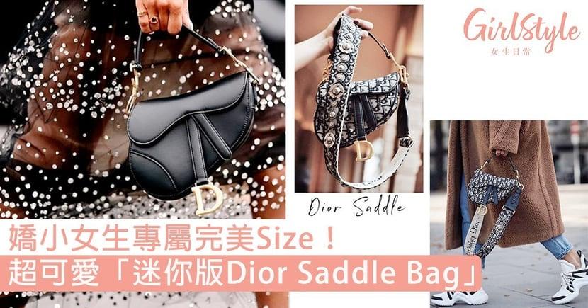 手挽、斜揹都一樣好看!超可愛「迷你版Dior Saddle Bag」,更適合嬌小女生的完美Size!