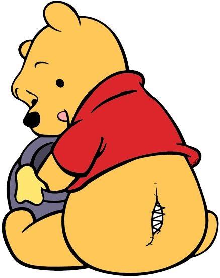 如果你有細心留意的話,就會發現到在Pooh Pooh的屁屁上,有一條接縫印。