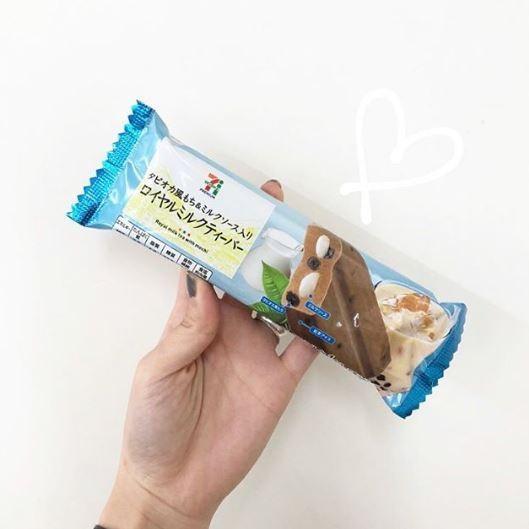 日本711必食!$10牛奶醬麻糬珍珠奶茶雪條