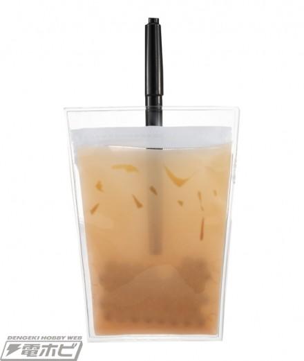 外型看起來就像是一杯珍珠奶茶,而當你把一支筆放入去時,就真的好像是在一杯珍珠奶茶插上飲管一樣