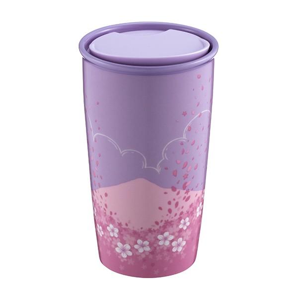 紫櫻晴空雙層馬克杯