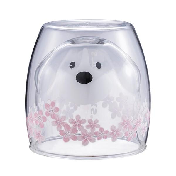 狗狗賞櫻雙層玻璃杯