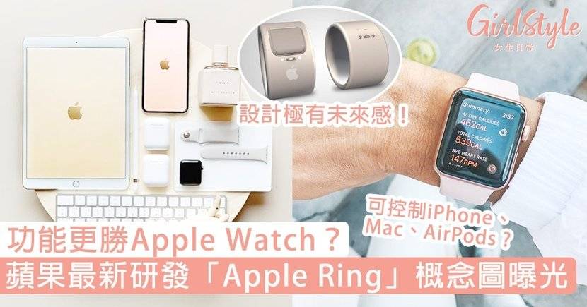 功能更勝Apple Watch?蘋果最新研發「Apple Ring」概念圖曝光,果迷:超期待!