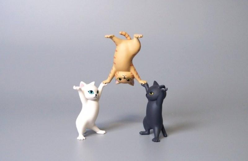 日本貓咪筆座扭蛋twitter@meetissai創意雜技玩法