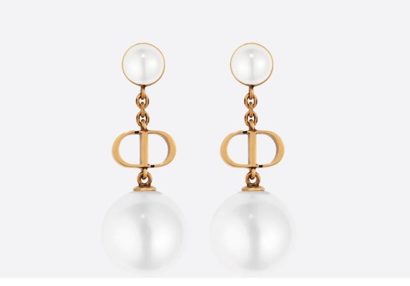 Dior珍珠耳環