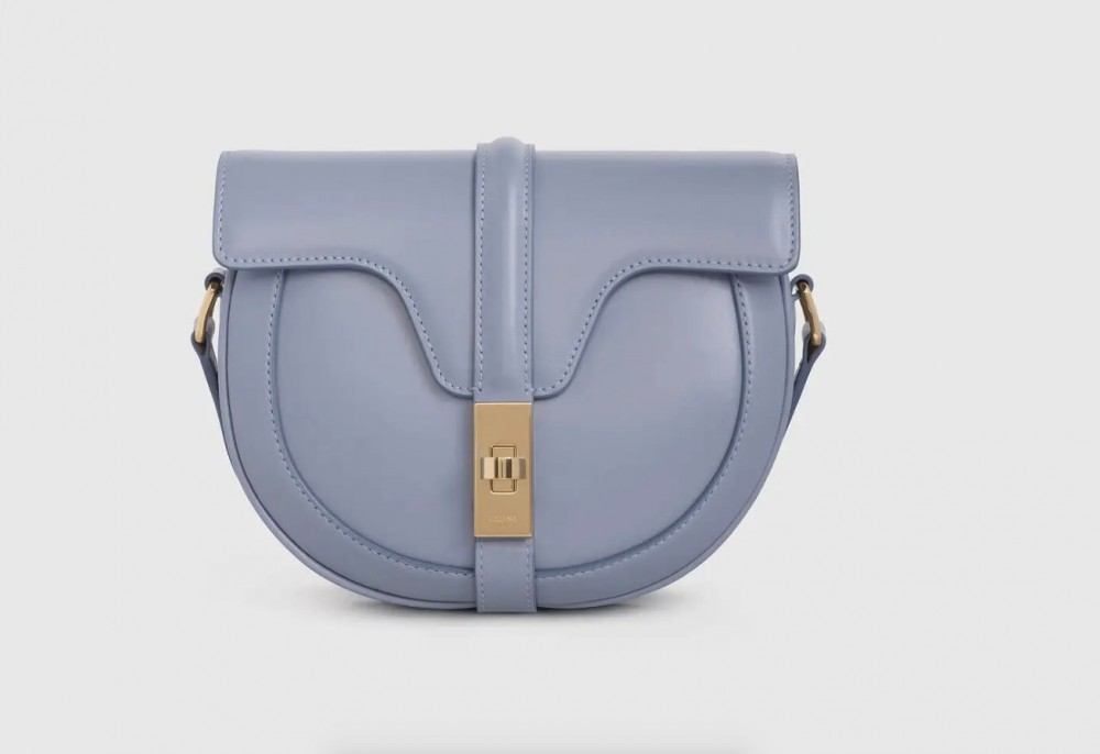 Celine SMALL BESACE 16 BAG IN SATINATED CALFSKIN blue