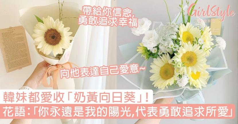 韓妹都愛收「奶黃向日葵」!浪漫花語:「你永遠是我的陽光,代表勇敢追求所愛!」