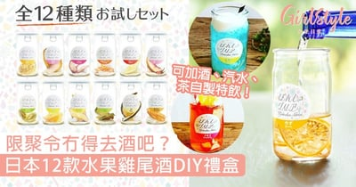 限聚令冇得去酒吧?日本12款水果雞尾酒DIY禮盒,加酒即可在家小酌!