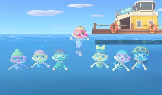 【動物森友會/動物之森】泳衣QR Code ID下載 比堅尼 男女泳裝 夏季更新潛水