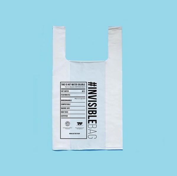 港法夫婦研發遇熱水即溶膠袋,不含任何塑膠成分,80度熱水即分解!