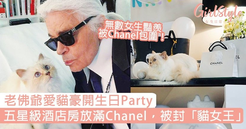 老佛爺愛貓Choupette豪開生日Party!五星級酒店房放滿Chanel,世上最富貴的貓!