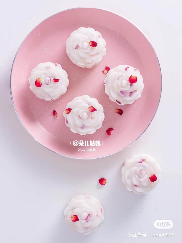 【冰皮月餅食譜】6步DIY絕美玫瑰奶黃冰皮月餅