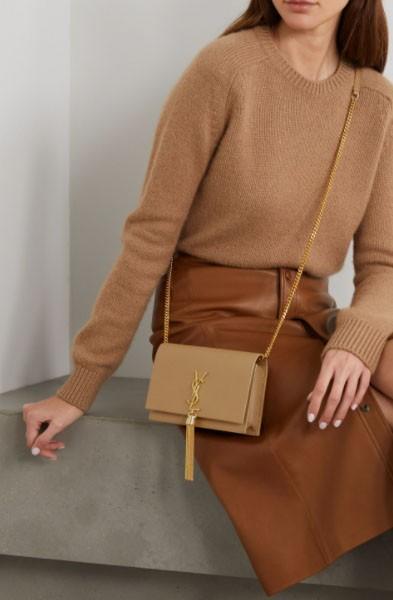 名牌手袋推介,奶茶色手袋,SAINT LAURENT