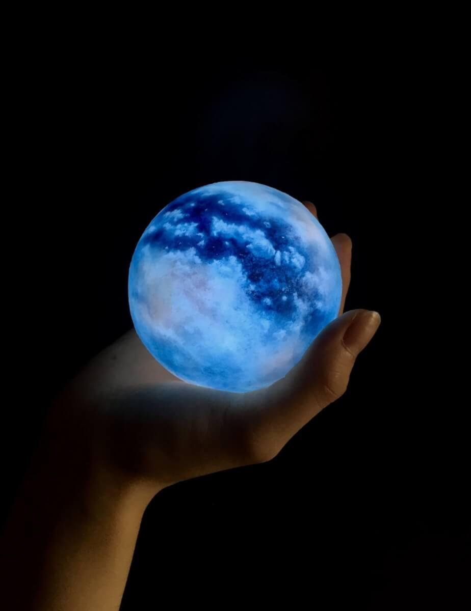 台灣ACORN Studio夢幻藍色月球燈Moon Titan Luna