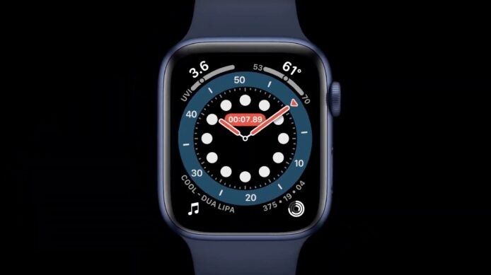 Apple Watch Series 6新增的「血氧量測量功能」讓你更了解自己的健康狀況,手錶背面會發出適合光度來計算出血液的顏色,從而測出血液含氧量資料,真的是又快又方便的新功能。