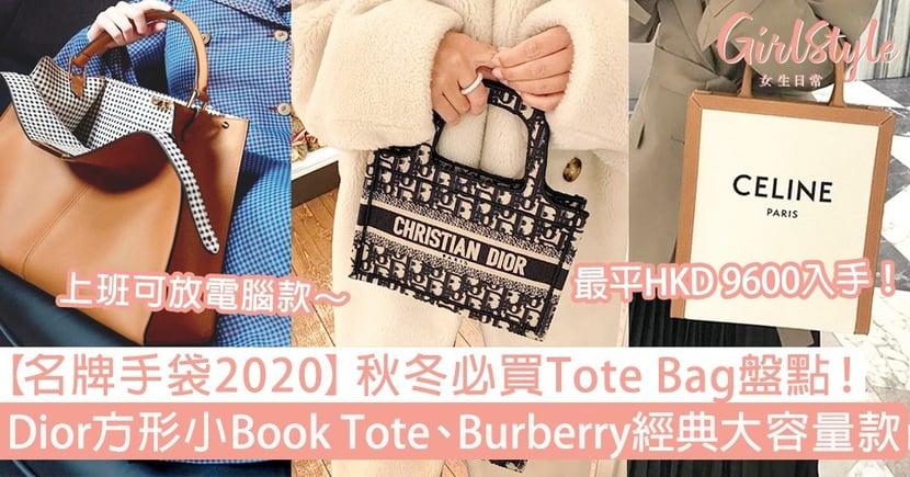 【名牌手袋2020】秋冬Tote Bag盤點!Dior方形小Book Tote、Burberry經典款大容量必買!