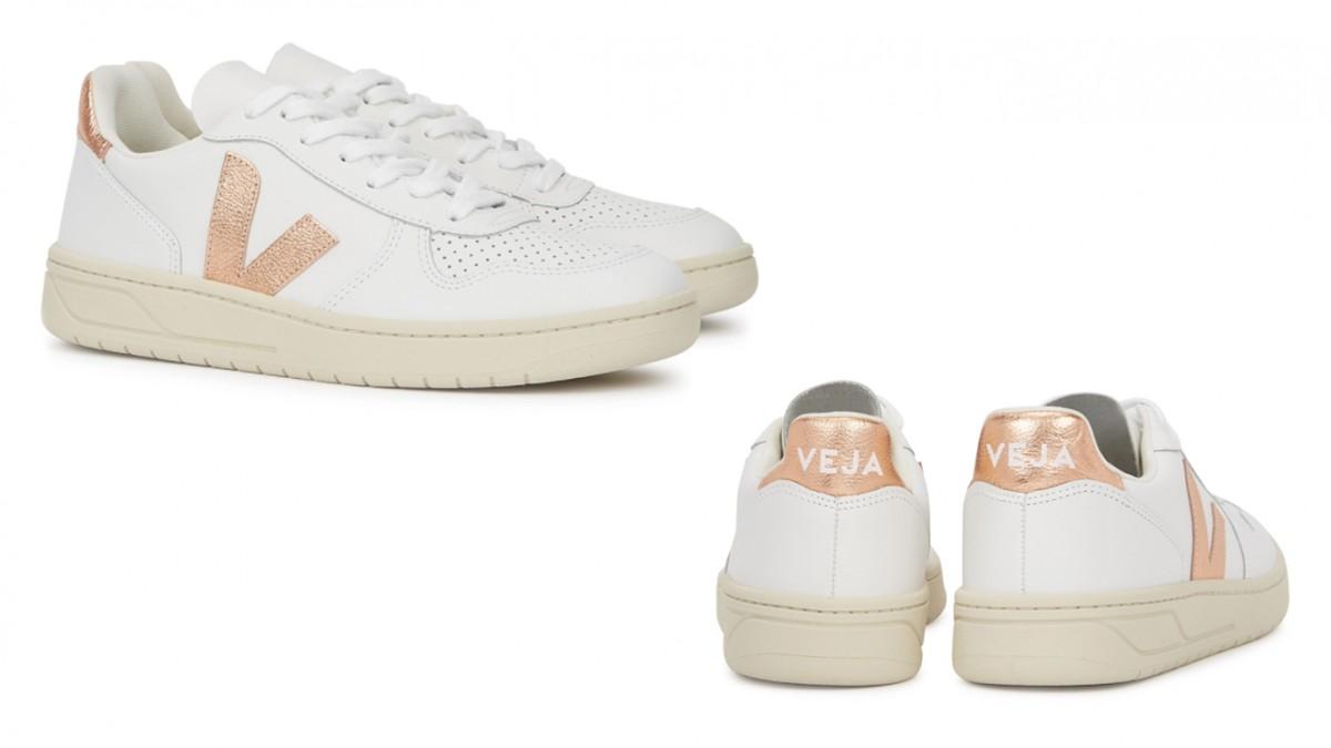 #VEJA V-10 white leather sneakers 9折優惠價HK$828【即按此購買】 HK$920