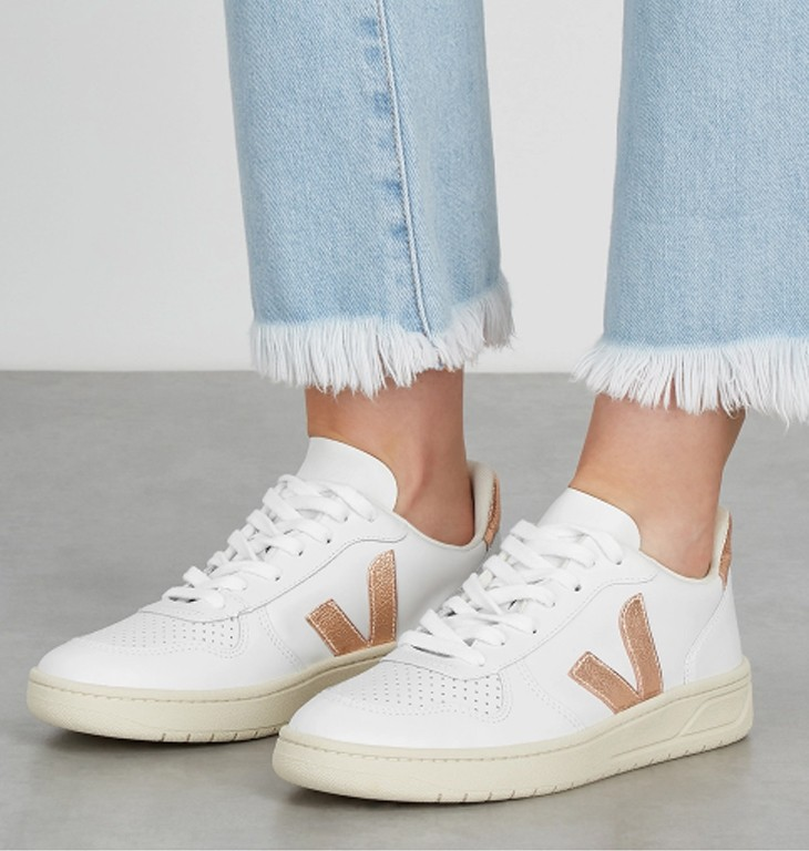 #VEJA V-10 white leather sneakers 9折優惠價HK$828【即按此購買】 HK$920