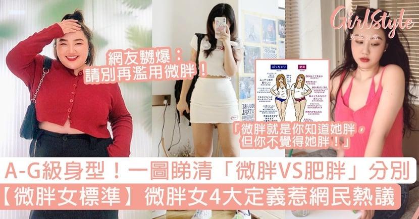 【微胖女標準】微胖女4大定義惹熱議!一圖睇清「微胖VS肥胖」分別,A至G級身型點分?