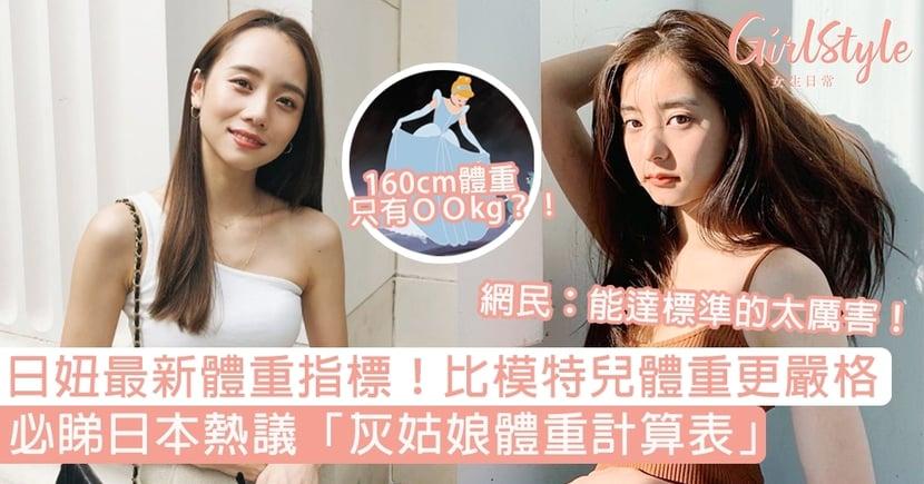 日本熱議「灰姑娘體重計算表」!160cm只能有4x kg?網民:能達標的太厲害!