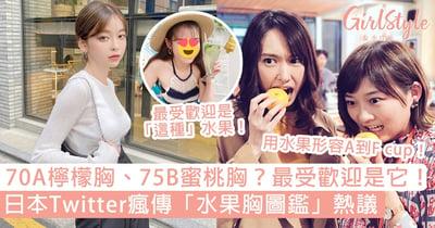 日本Twitter「水果胸圖鑑」惹熱議!70A檸檬、75B蜜桃?最受歡迎「生果」是它!
