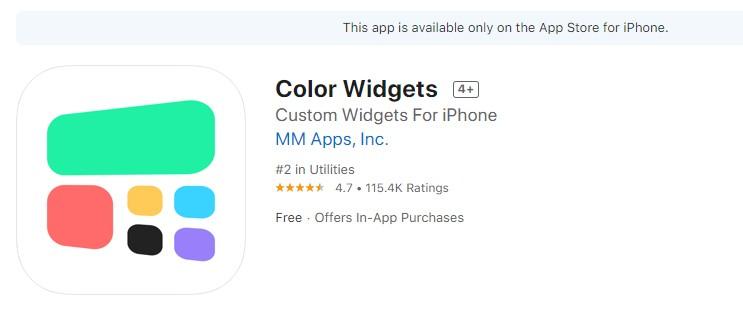 """Color Widgets"" app"