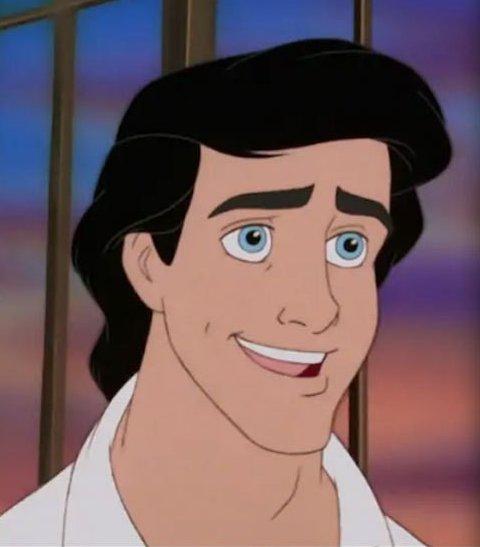 Prince Eric 的真人版也被說超有氣質,但是就臉型偏短。