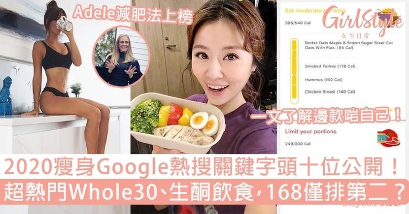 【飲食減肥法】2020 Google熱搜關鍵字Top 10!超熱門Whole30,168斷食排第二?