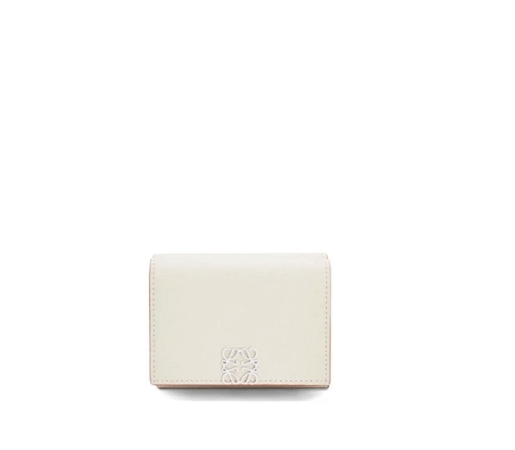 Loewe Anagram trifold 6 cc wallet in pebble grain calfskin
