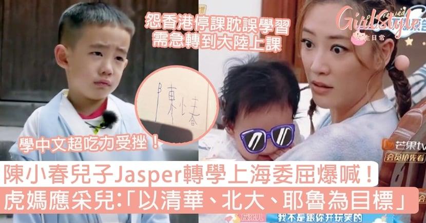 陳小春兒子Jasper轉學上海委屈爆喊!虎媽應采兒:「以清華、北大、耶魯為目標」
