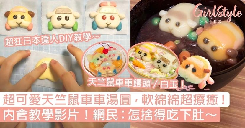 天竺鼠車車湯圓軟綿綿超療癒!內含教學影片,網民:怎麼可以吃鼠鼠~