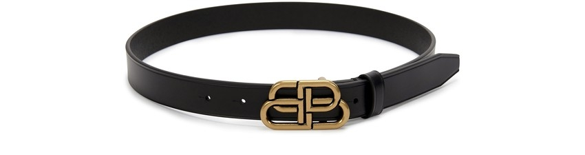 【名牌網購】 款大熱名牌Logo Belt!BALENCIAGA BB thin Belt