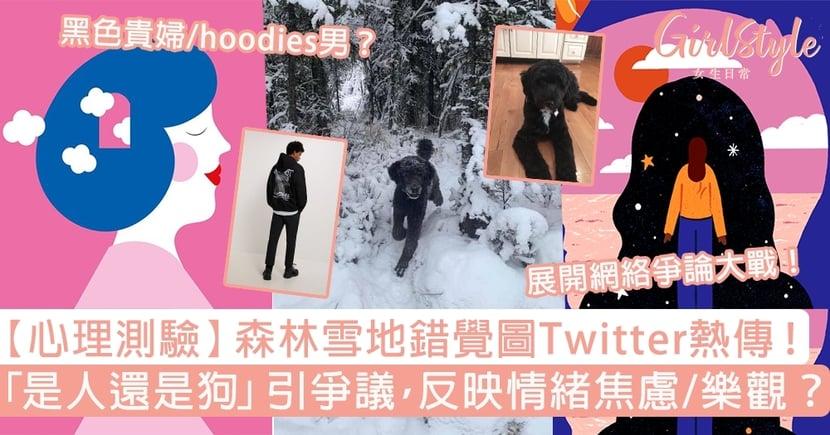 【心理測驗】森林雪地錯覺圖Twitter熱傳!第一眼看到人還是狗?反映心理現狀!