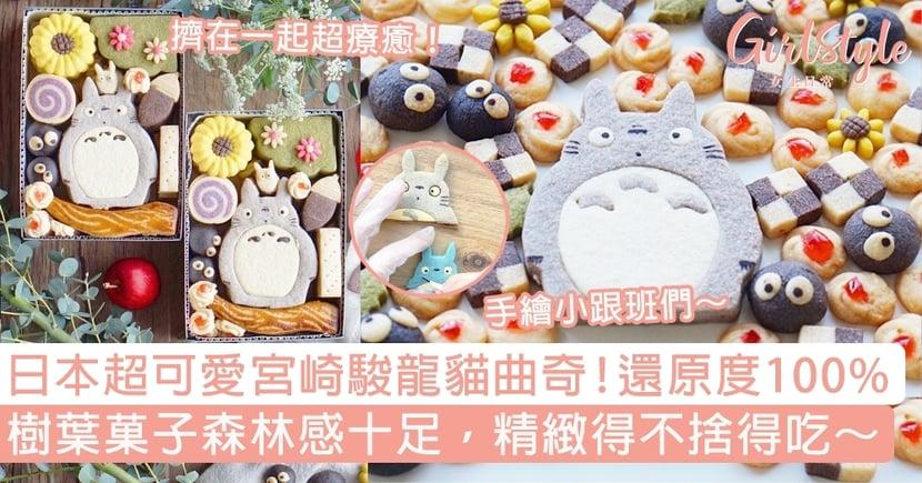 日本宮崎駿龍貓曲奇餅還原度100%!樹葉菓子森林感十足,精緻得不捨得吃~