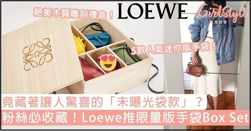 Loewe推限量版手袋Box Set!集合5款人氣迷你版it bag,竟還藏著「未曝光袋款」?