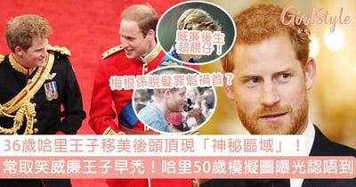 36歲哈里王子頭頂現「神秘區域」!常取笑威廉王子髮型,50歲模擬圖曝光慘過威廉?