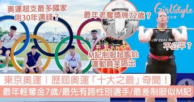 東京奧運|歷屆奧運十大之最!最年輕奪金牌得7歲/最差的制服似麥當勞?