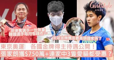 東京奧運︳各國金牌得主待遇公開!張家朗連愛貓都受惠、韓國選手每月收錢仲免服兵役