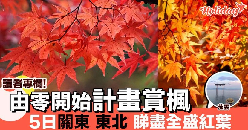 【專欄分享:茄雲】如何由零開始計劃賞楓行程路線?5日,到日本關東,東北看全盛的紅葉美景