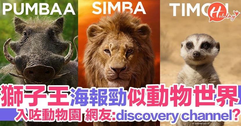 《獅子王》「真人版」海報公開 勁似動物世界 網民:以為睇緊discovery channel