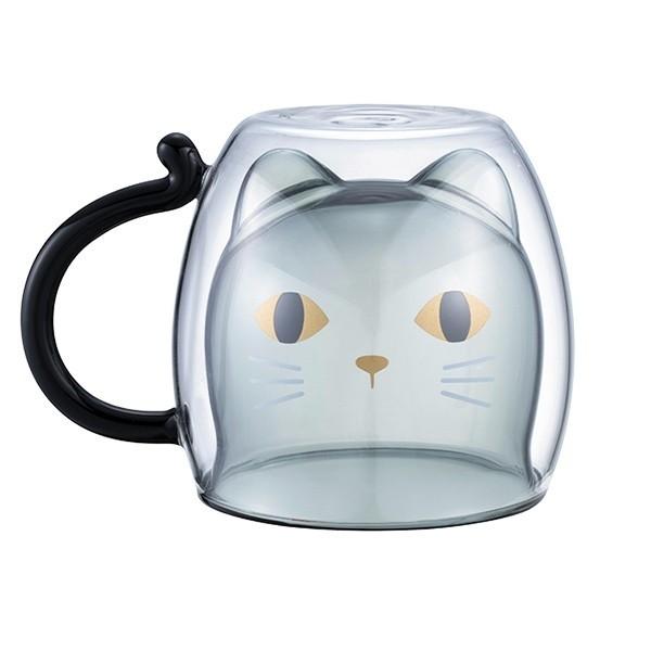 台灣 Starbucks 萬聖節 限定 雙層玻璃杯 黑貓